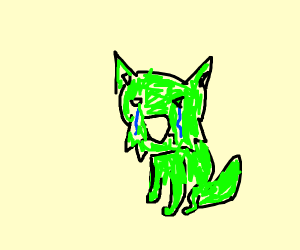 sad freen cat cartoon