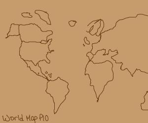 world map P.I.O.