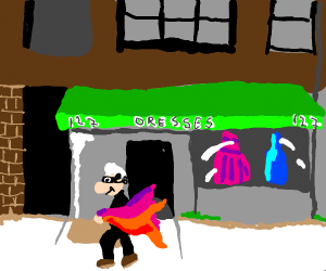 Old Man Robbing Dress Store