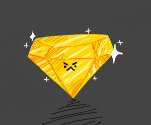 angry face yellow diamond