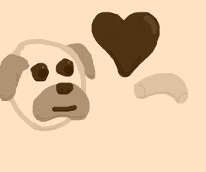 Pug loves Mac and cheese