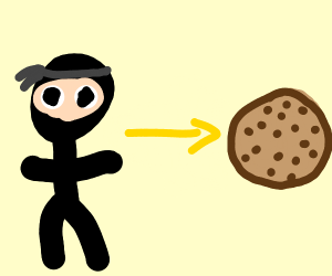 ninja turns into a choc chip cookie