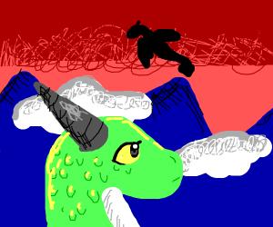 dragons at sunrise