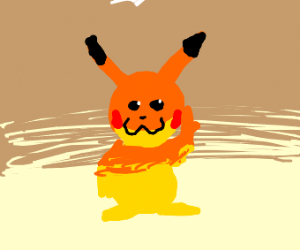 Pikachu watching your from the shadows