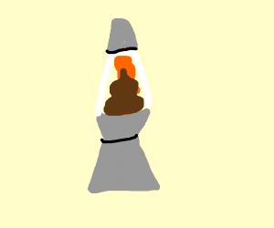 poop stuck in lava lamp