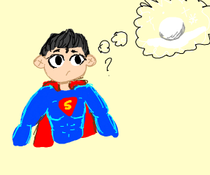 Superhero imagining a Snowball