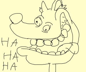 Furry laughing