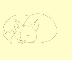 A lazy brown fox.