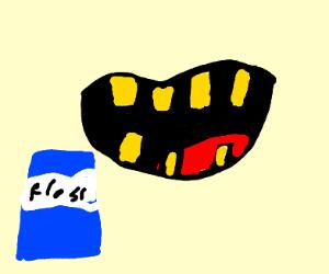 Kid be flossing (Teeth)