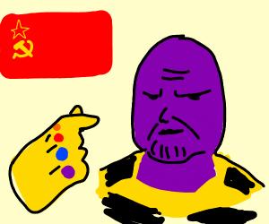 Thanos snaps the Soviet Union