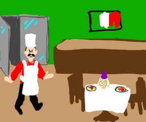 Chef quits job at Italian resturant.