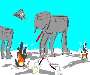 The Empire Strikes Back Hoth Battle
