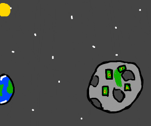 Radiation on the moon