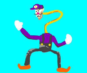 Waluigi has a noodle for a neck