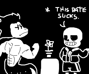 Sans and Aaron go on a hot date! (Undertale)