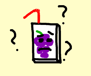 Grape juice box is confused and sensitive