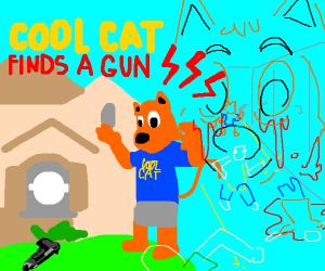 Cool Cat Threatens the Kids