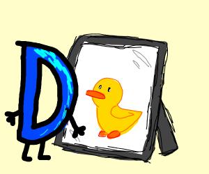Drawception logo sees duck in mirror