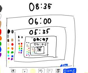 A painting program drawn on painting program