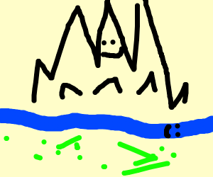 happy little river and mountain