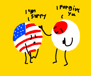 USA apologizes to Japan, Japan forgives them