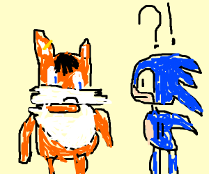 Tails becomes emo, sonic is confused