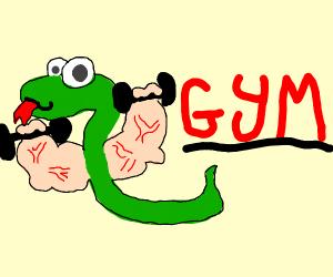 Snake weightlifter