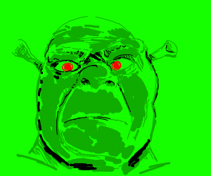angry shrek