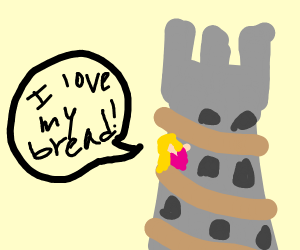 Princess in tower loves her bread