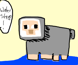 pewdiepie water sheep