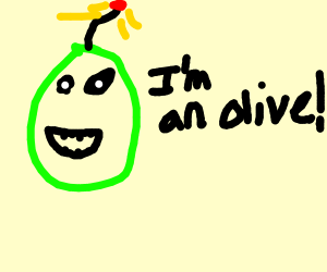Green bomb claims to be olive