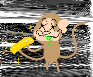poisoned happy monkey found gold