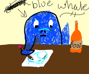 Alcoholic Blue Whale Sketching