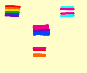 as many different pride flags as possible