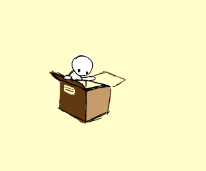 looking inside a box