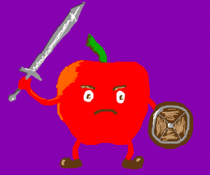 A Red Apple Warrior