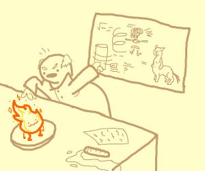 scientist made fireelemental instedof centaur