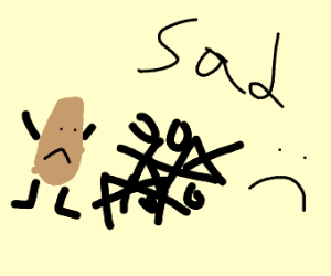 Potato loses tic-tac-toe against himself