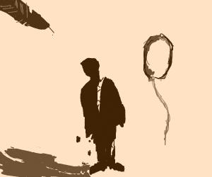 Disintegrating silhouette