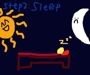 Step 1: Watch the sunrise