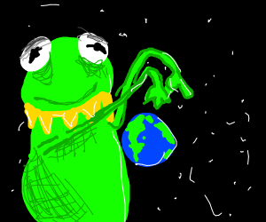 Kermit has become larger than Earth
