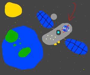 nasa satellite (nice drawing!)
