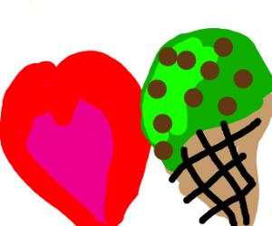 Love mint chocolate chip ice cream