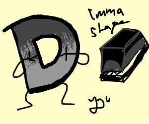 grey drawception shocked by stapler