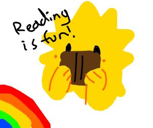 The sun enjoys reading