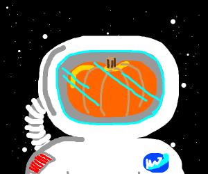 Astronaut pumpkin