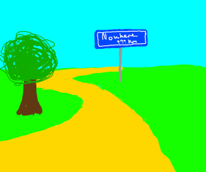 Yellow Brick Road leading nowhere