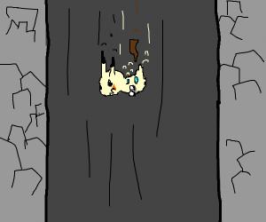 mimikyu falling