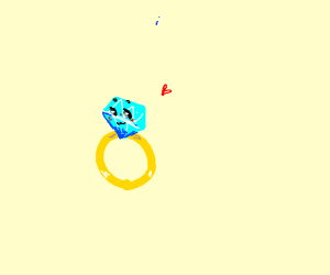 Diamond ring with face