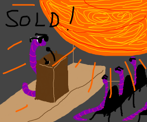 Worm sells the sun at actuation